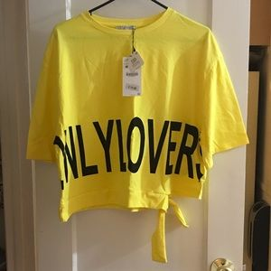 Zara Only Lovers Yellow T-shirt